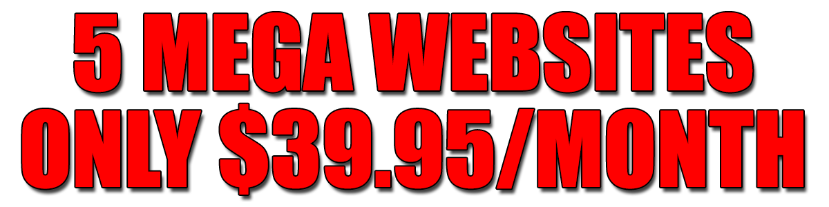 5 Mega Websites Only $39.95/Month