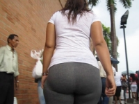 Fat Ass In Grey Tights