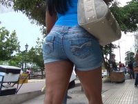 Teen In Denim Shorts