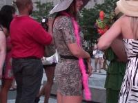 sexy white girl in mini dress
