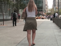 sexy white girl in skirt