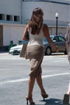 busty lady in long skirt