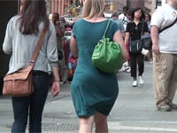 sexy white girl in dress with big ass